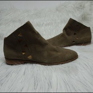 New Lucky Brand Leather Jakeela Ankle Boots Sz 8.5